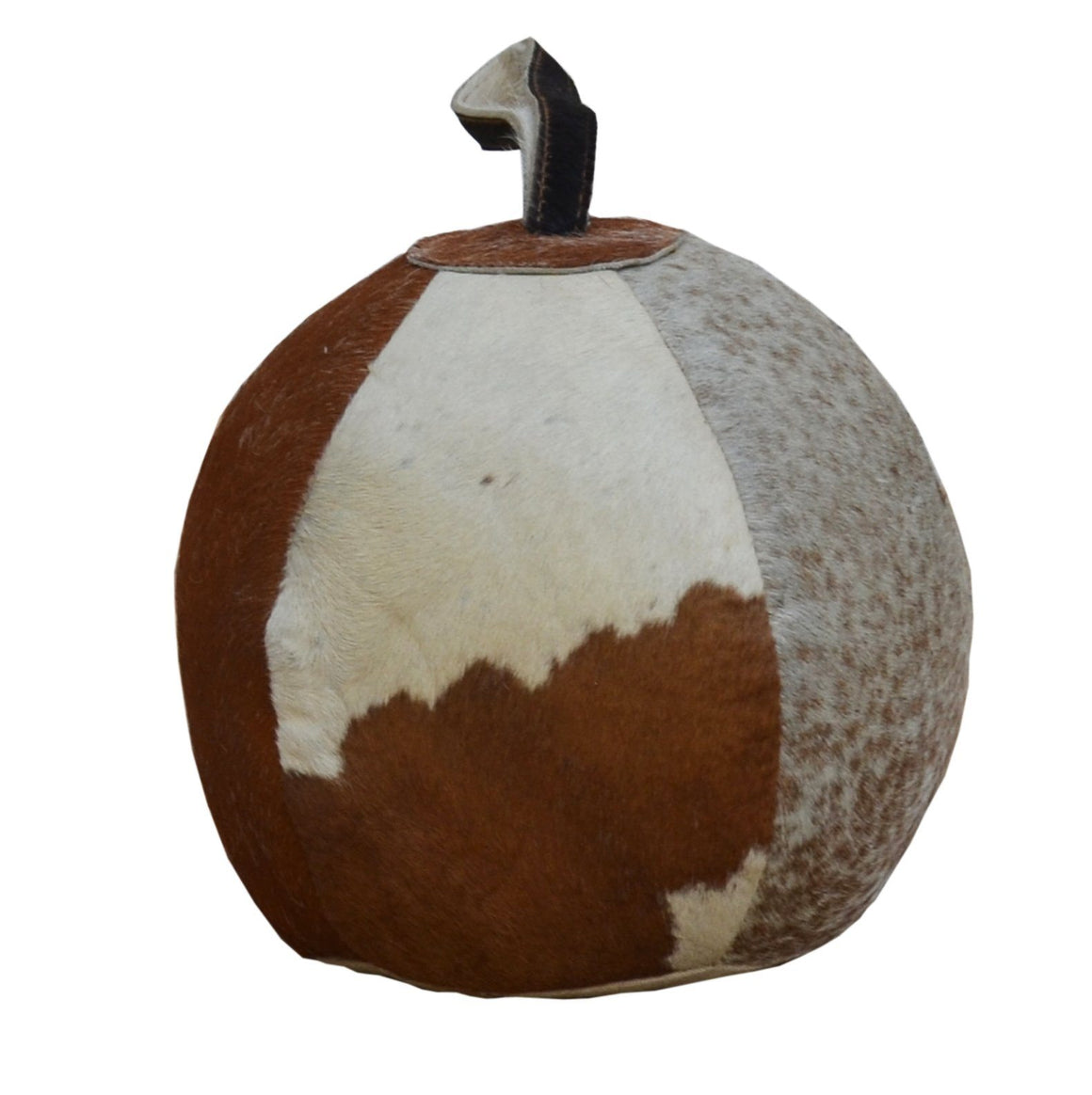 COWHIDE ROUND SEGMENTED DOOR STOPPER Philbee Interiors