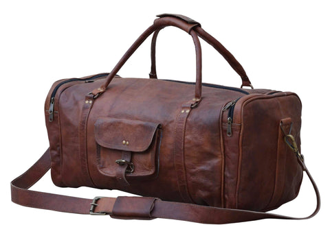OVERNIGHT LEATHER DUFFLE BAG Philbee Interiors
