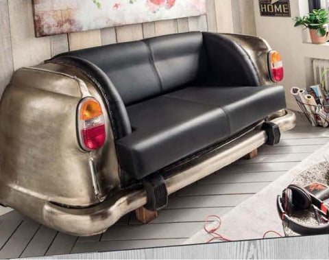 ANTIQUE NICKEL BACKSEAT CAR SOFA Philbee Interiors