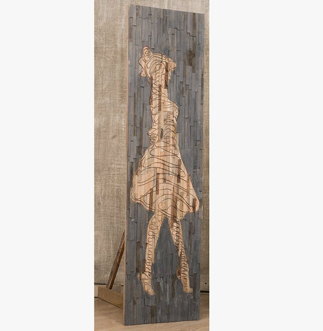 LADY TIMBER WALL ART 50% DISCOUNT Philbee Interiors