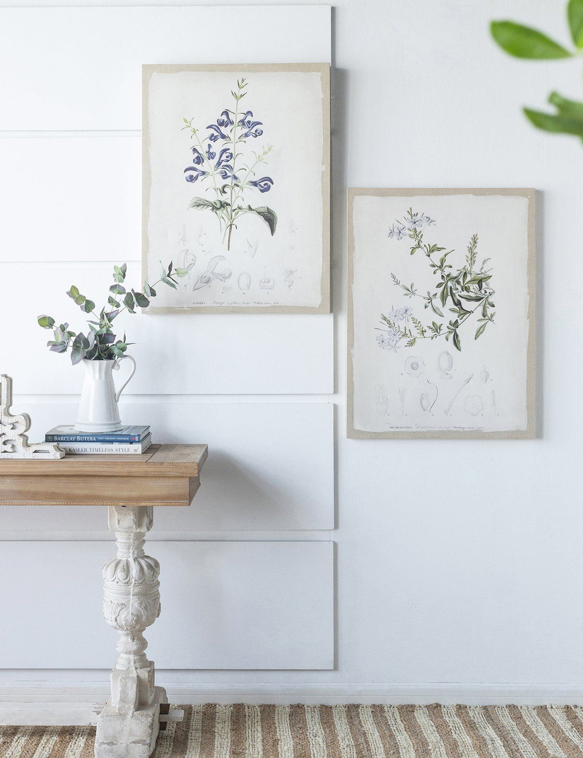 BOTANICAL CANVAS WALL ART SET/2 Philbee Interiors