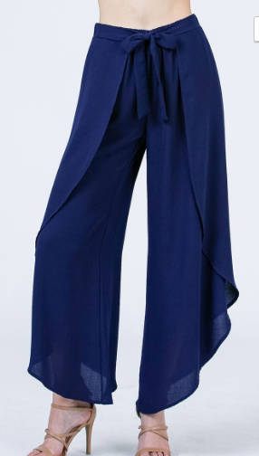 Palazzo Pants With Side Slits