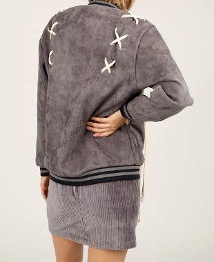 Gray Laced Varsity Jacket