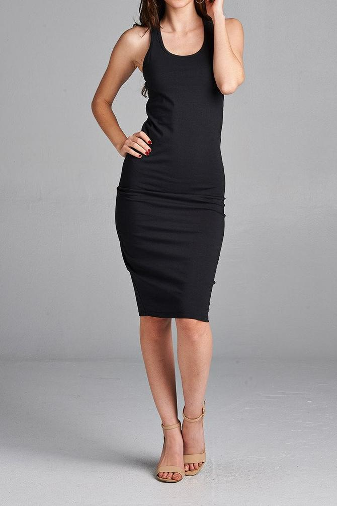 Avery Racer Back Midi Dress
