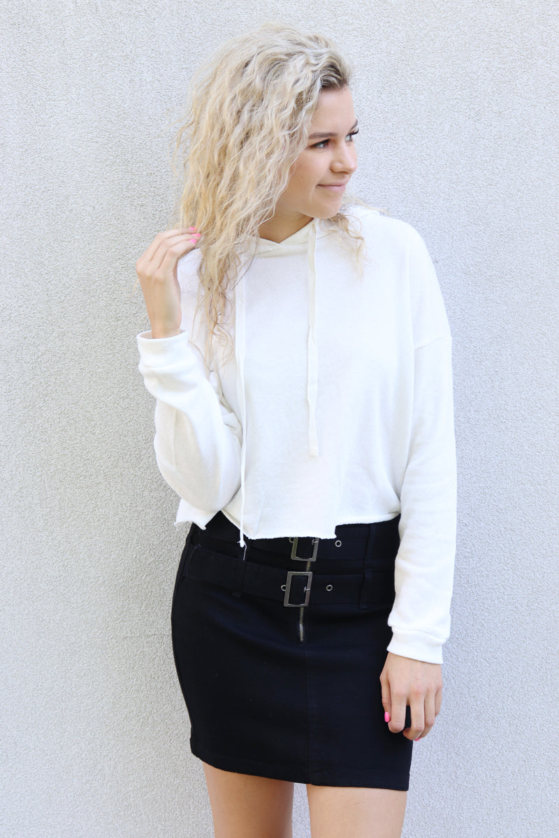 Lauren High Waist Buckle Skirt