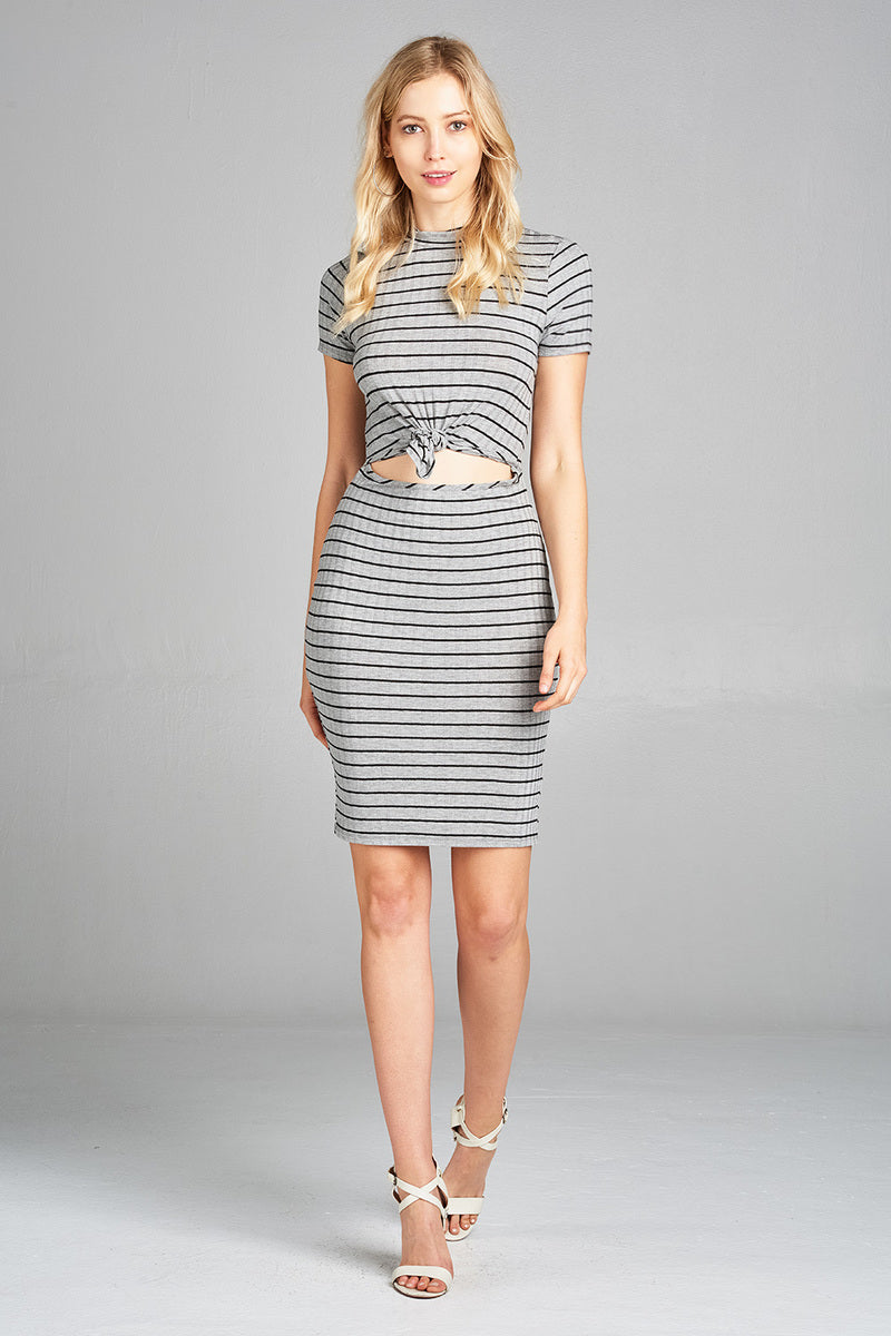 Natalie Ribbed Midi Dress