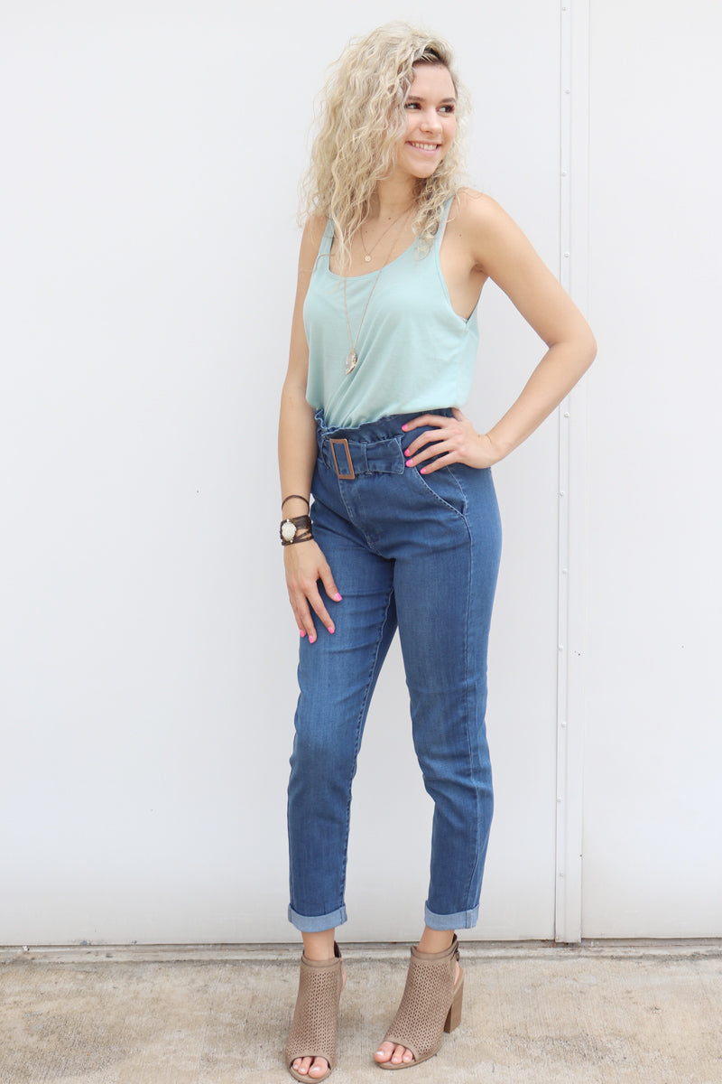 Whitney Paper Bag Waist Jeans