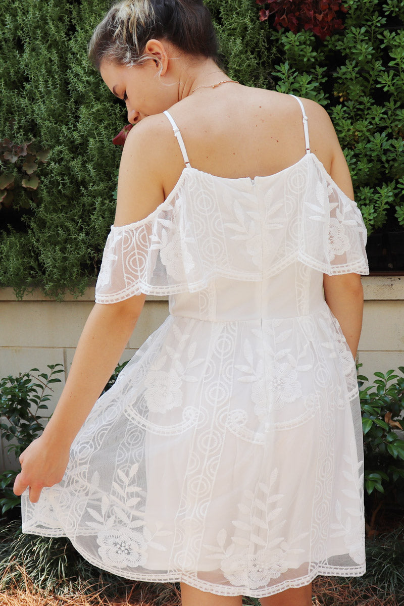 Willow Cold Shoulder Lace Dress