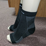 2 Pairs Anti-Fatigue Compression Ankle Foot Sleeve for Plantar Fasciitis Relief