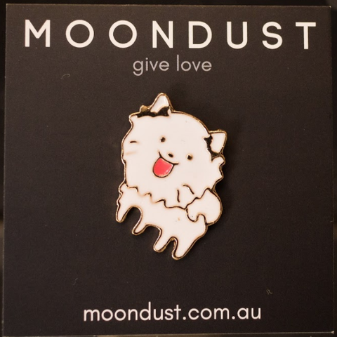 Samoyed enamel pin