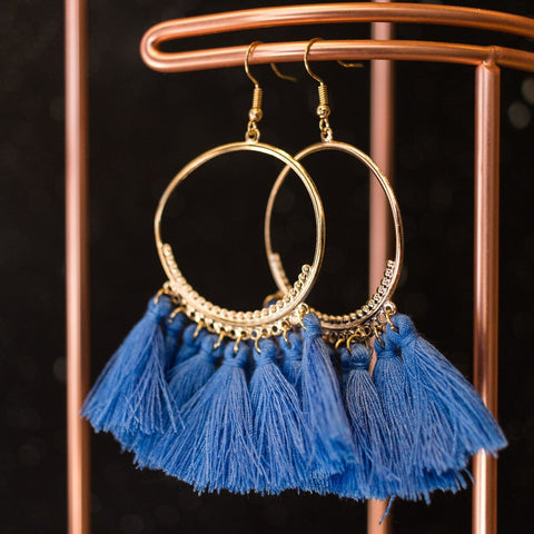 Tassel & Hoop Earrings