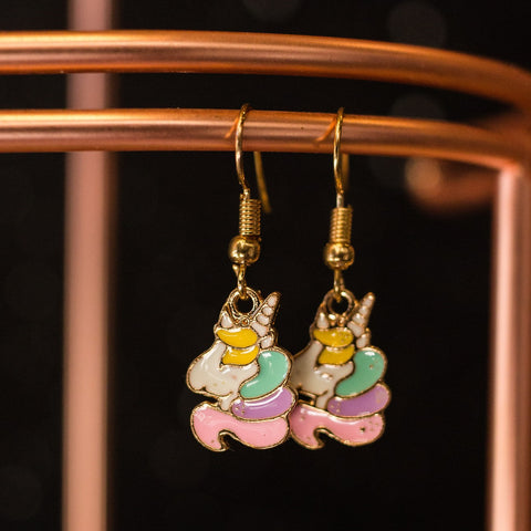 Multicolour Unicorn earrings