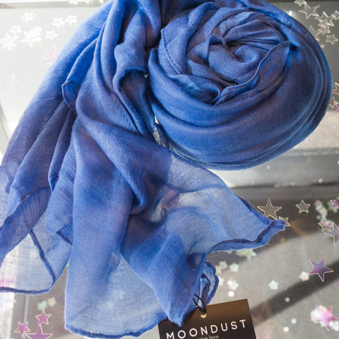Scarf - block colour - blue