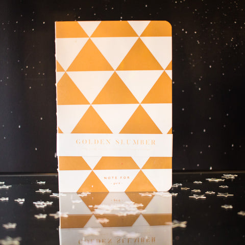 Gold notebook - triangles