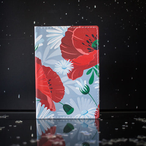 Passport cover - poppy