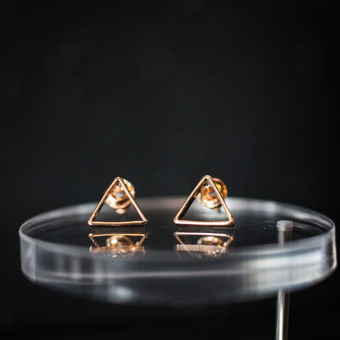 Triangle Outline stud earrings