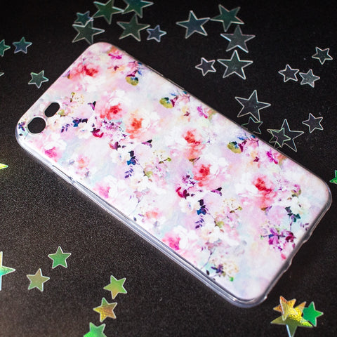 Pink Floral Watercolour iPhone case 8/X