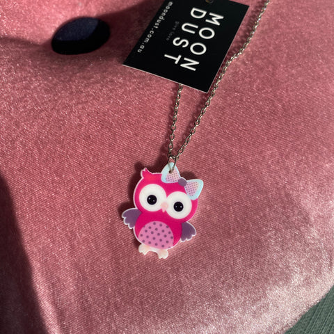 Kids Owl Necklace
