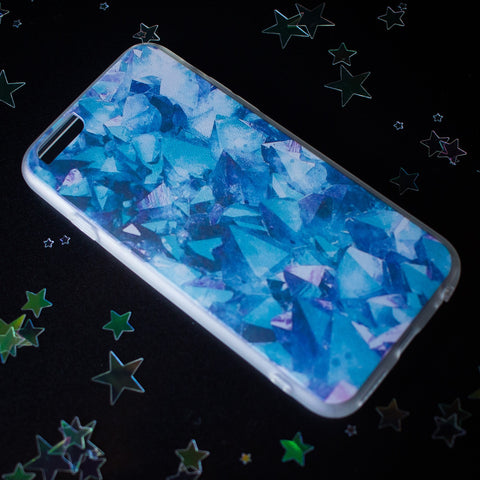 Blue Crystal iPhone case