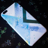 Geometric Blue iPhone Case