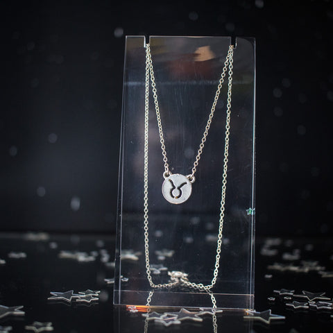 Zodiac Symbol Silver Necklace