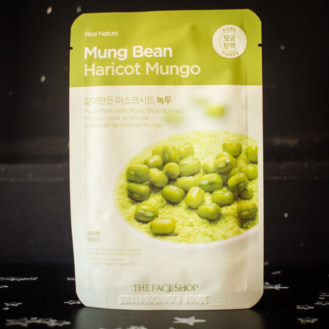 Face Shop Real Nature Mask Sheet - Mung Bean