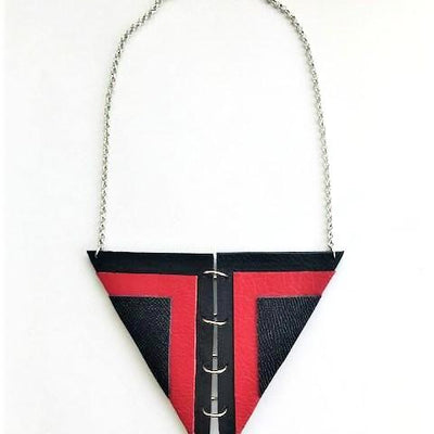 El Toro necklace-handmade leather bags-handcrafted leather-unique design bag-luxury leather bag-stylish bag-OKOhandbags