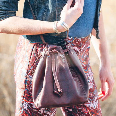 Bucket bag.-handmade leather bags-handcrafted leather-unique design bag-luxury leather bag-stylish bag-OKOhandbags