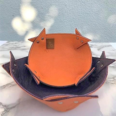 Reversible leather bowl-handmade leather bags-handcrafted leather-unique design bag-luxury leather bag-stylish bag-OKOhandbags