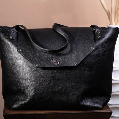 Medium Tote-handmade leather bags-handcrafted leather-unique design bag-luxury leather bag-stylish bag-OKOhandbags