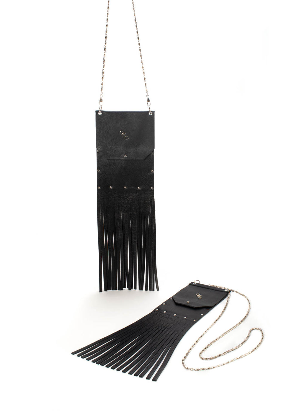 """Urban Chic"" cell phone pouch with fringe."