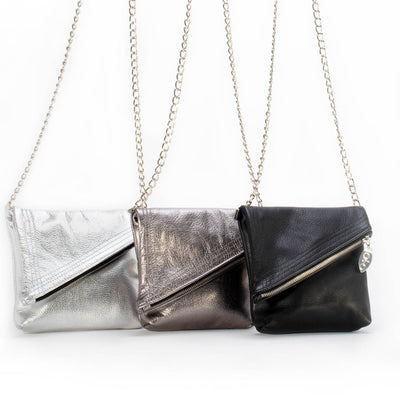 Shelley fold over bag-handmade leather bags-handcrafted leather-unique design bag-luxury leather bag-stylish bag-OKOhandbags