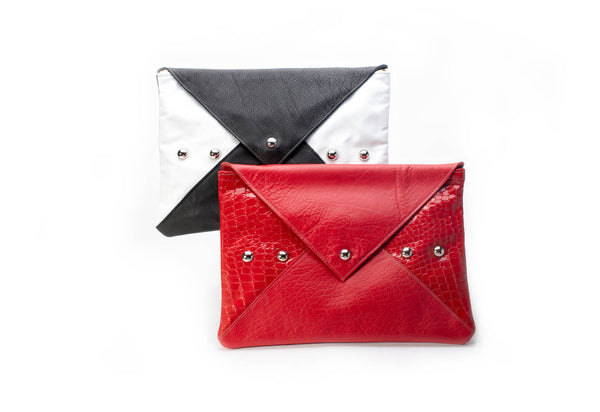 Love Letter Clutch-handmade leather bags-handcrafted leather-unique design bag-luxury leather bag-stylish bag-OKOhandbags