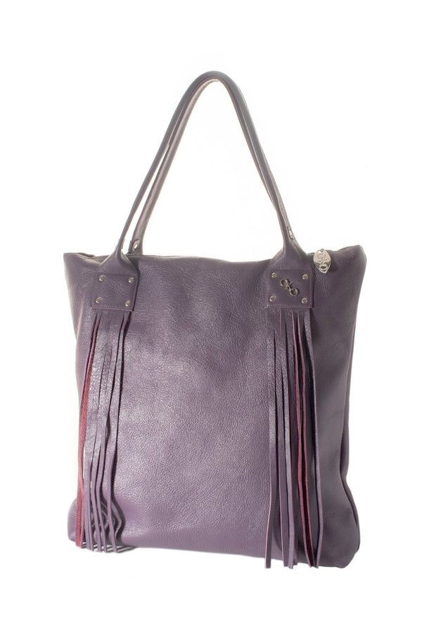"""Fringy"" tote-handmade leather bags-handcrafted leather-unique design bag-luxury leather bag-stylish bag-OKOhandbags"
