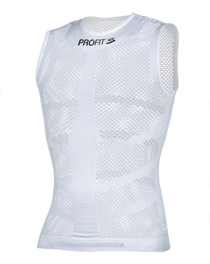 Spiuk PROFIT white sleeveless cycling base layer