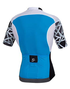Spiuk Elite Air mens blue cycling jersey