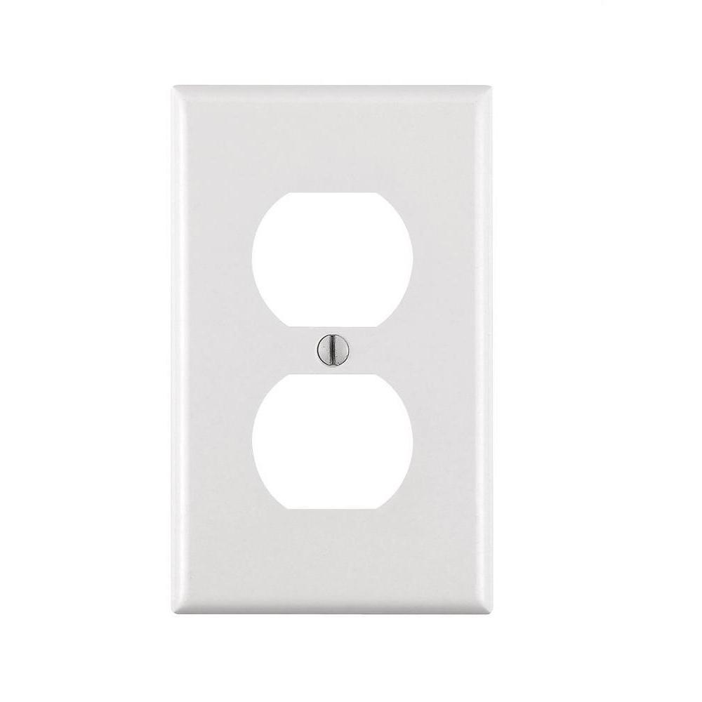 1-Gang Duplex Outlet Wall Plate - Shark Locks