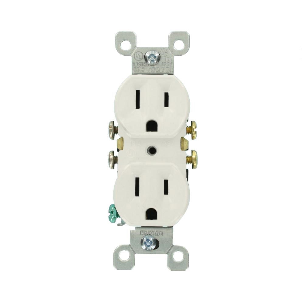 15 Amp Duplex Outlet - Shark Locks