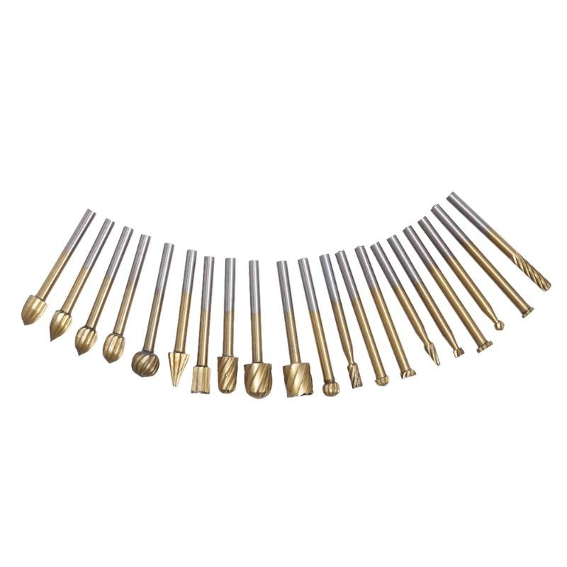 Drill Bit- 20pc HSS Routing Router Grinding Bits Burr For Rotary Tool Dremel Kit For the rotary tool set burrs higher quality
