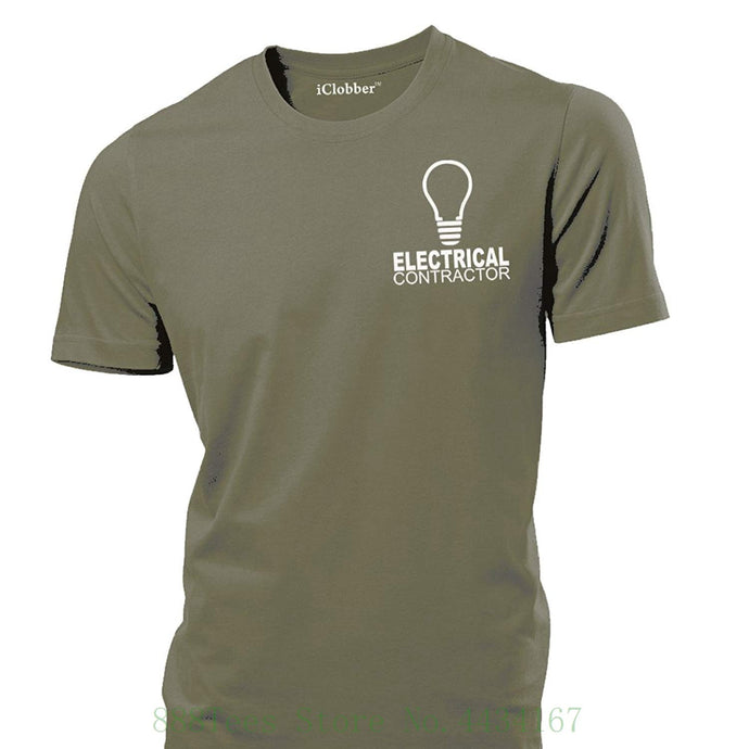 Electrical Contractor Workwear Mens T Shirt Spark Builders Design