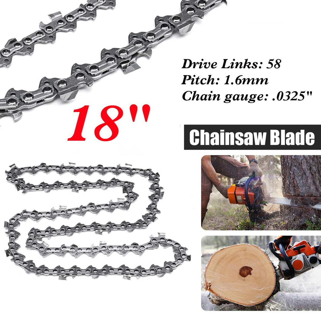 Woodworking 18 inch Chainsaw Chain 68 Link  Bar 1.6mm x 0.325