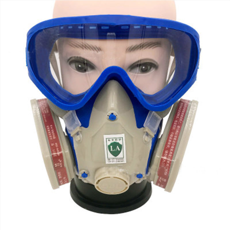 Dust Mask Full Face Respirator Stainless Steel Gas Mask & Goggles for Cover Paint, Chemical Pesticide, Mask Dustproof