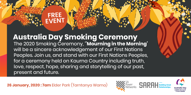 Smoking Ceremony - Australia Day