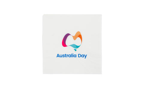 Australia Day Logo Serviettes (Pack of 50)