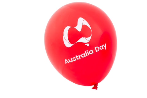 Australia Day Balloons - Red, White And Blue