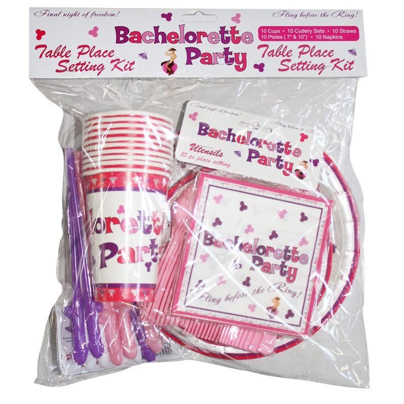 Bachelorette Party Table Place Set Kit