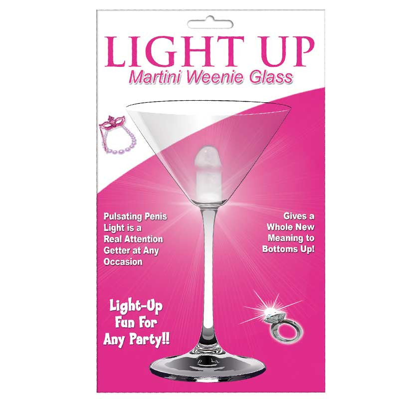 Light Up Martini Weenie Glass