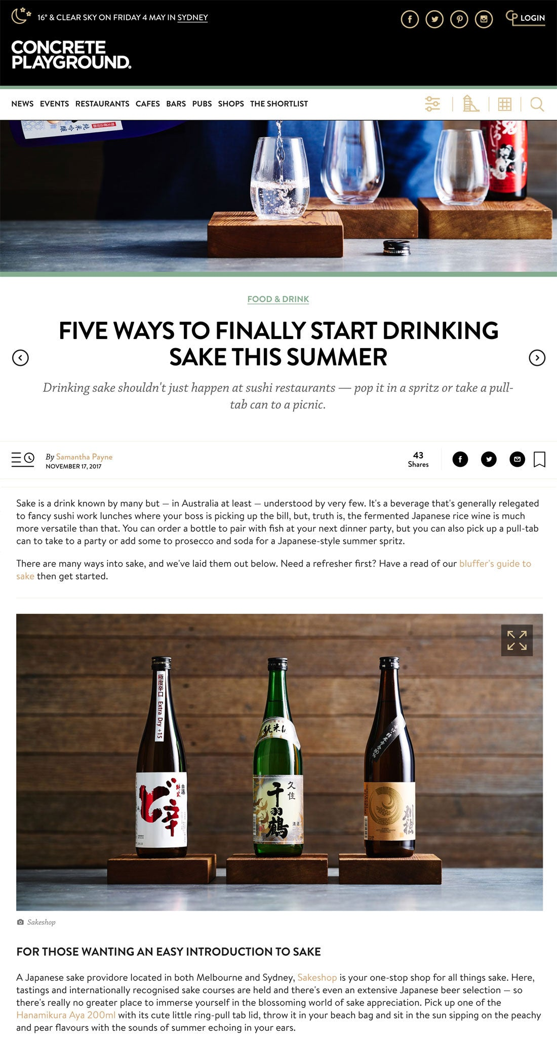 Five Ways to Finally Start Drinking Sake This Summer