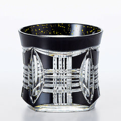 Black Crystal Kiriko Rocks Glass - A1 230ml
