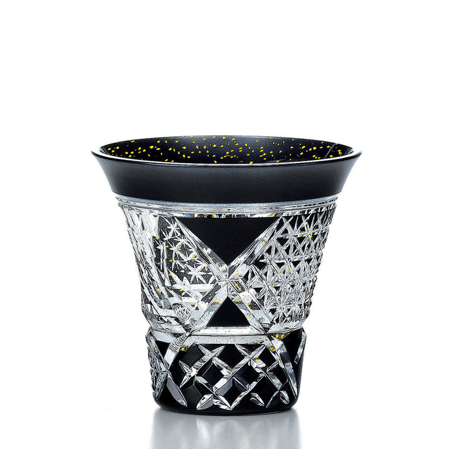 Black Crystal Kiriko Sake Glass - A2 85ml